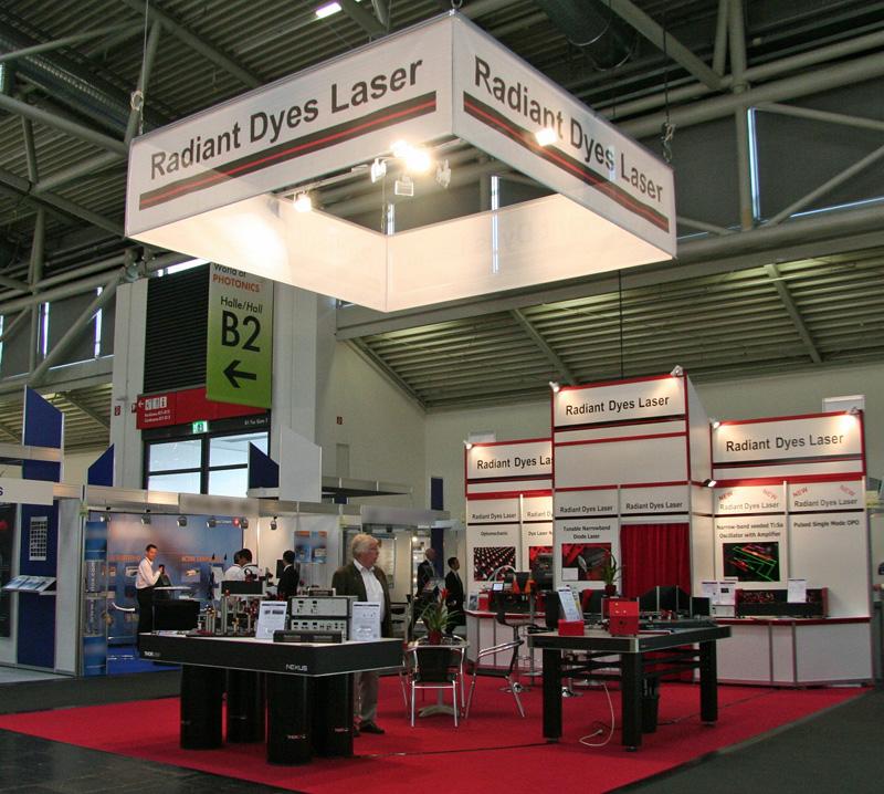 Messe Stuttgart Eingang Ost: Radiant Dyes Laser & Acc. GmbH